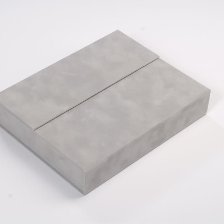 Dárková semišová kazeta s paspartami na foto 10 x 15 cm