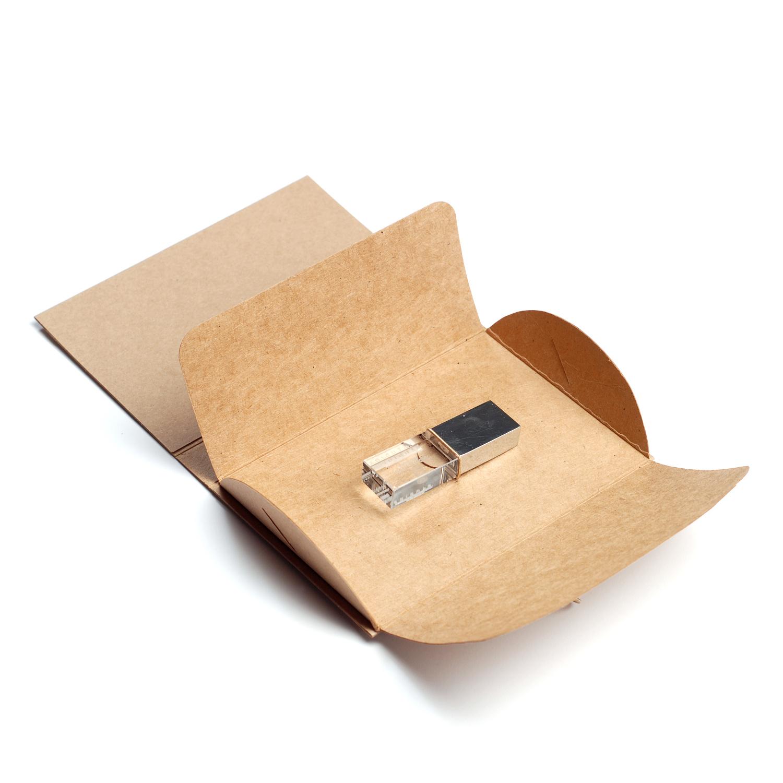 Kraftová Obálka na USB flash disk