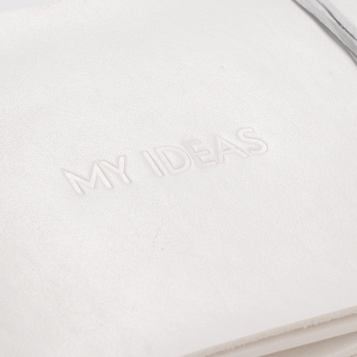 Kožený zápisník Journal+ bílý