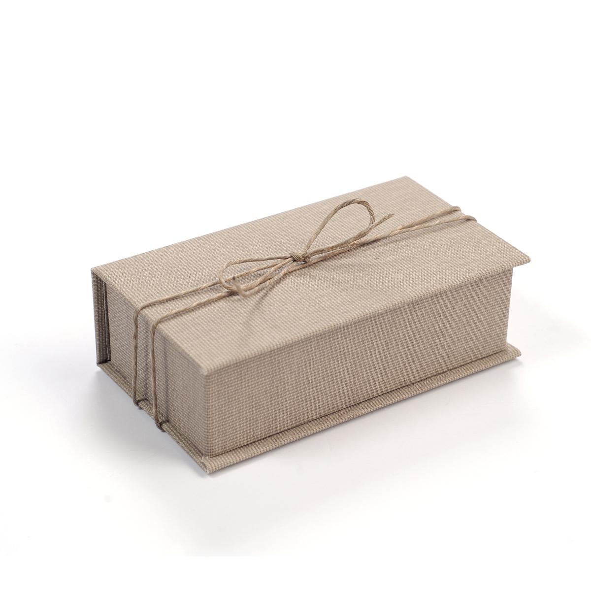 Krabička Jute na USB Flash disk - dárkový obal
