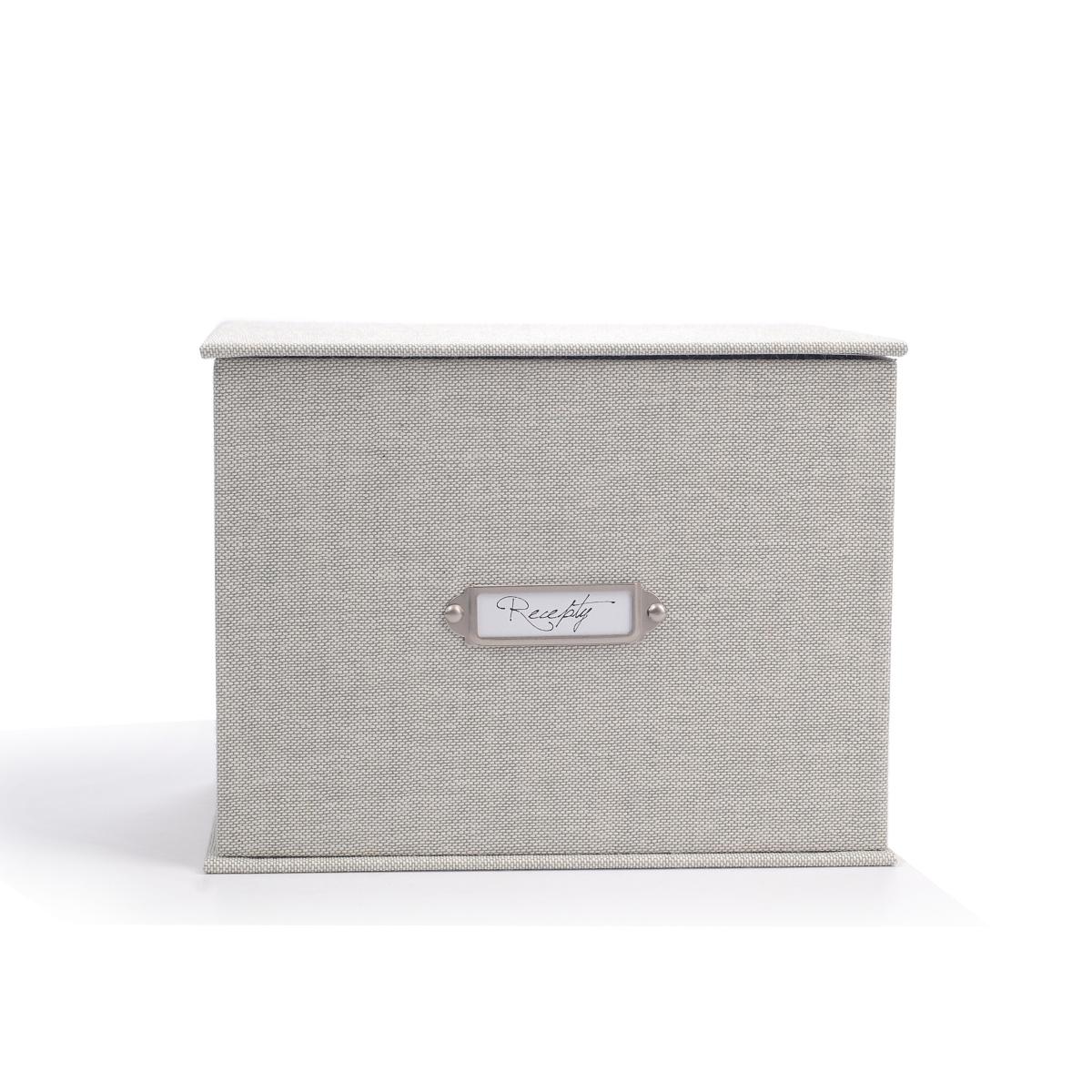 Receptář Natur Grey - krabička na recepty