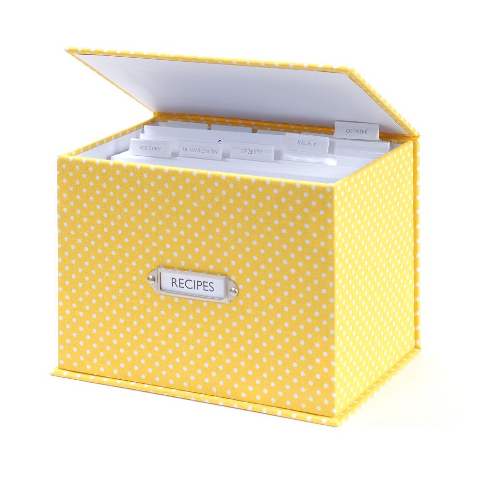 Receptář Puntík - žlutý